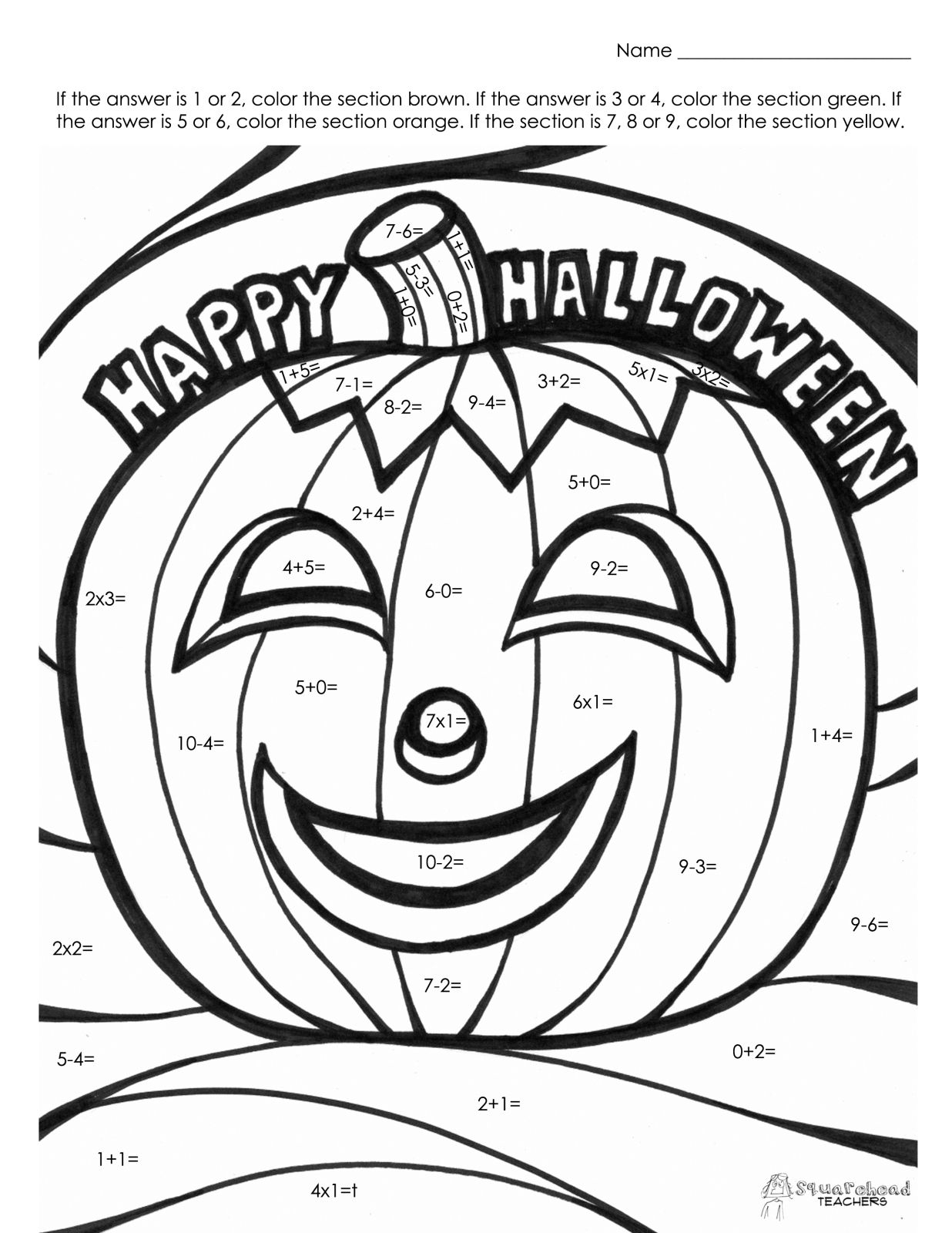 Coloring Pages : Halloween Math Fact Coloring Number regarding Free Printable Halloween Multiplication Color By Number