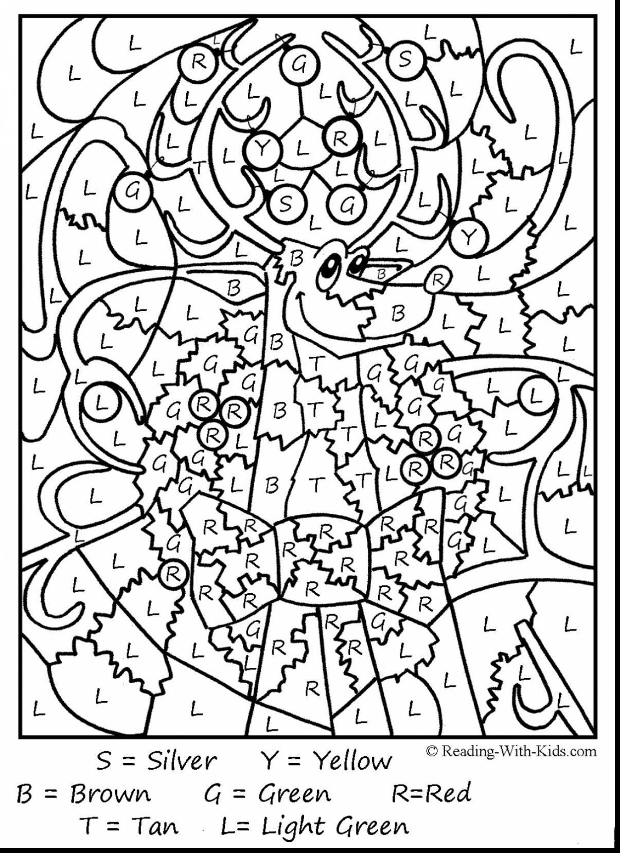 Coloring Pages : Inspirationaltion Colornumber with Printable Multiplication Color By Number