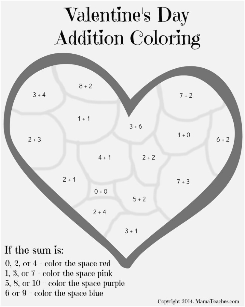 Colornumber Math Worksheets Images Quickly Valentines Throughout Multiplication Worksheets Valentines