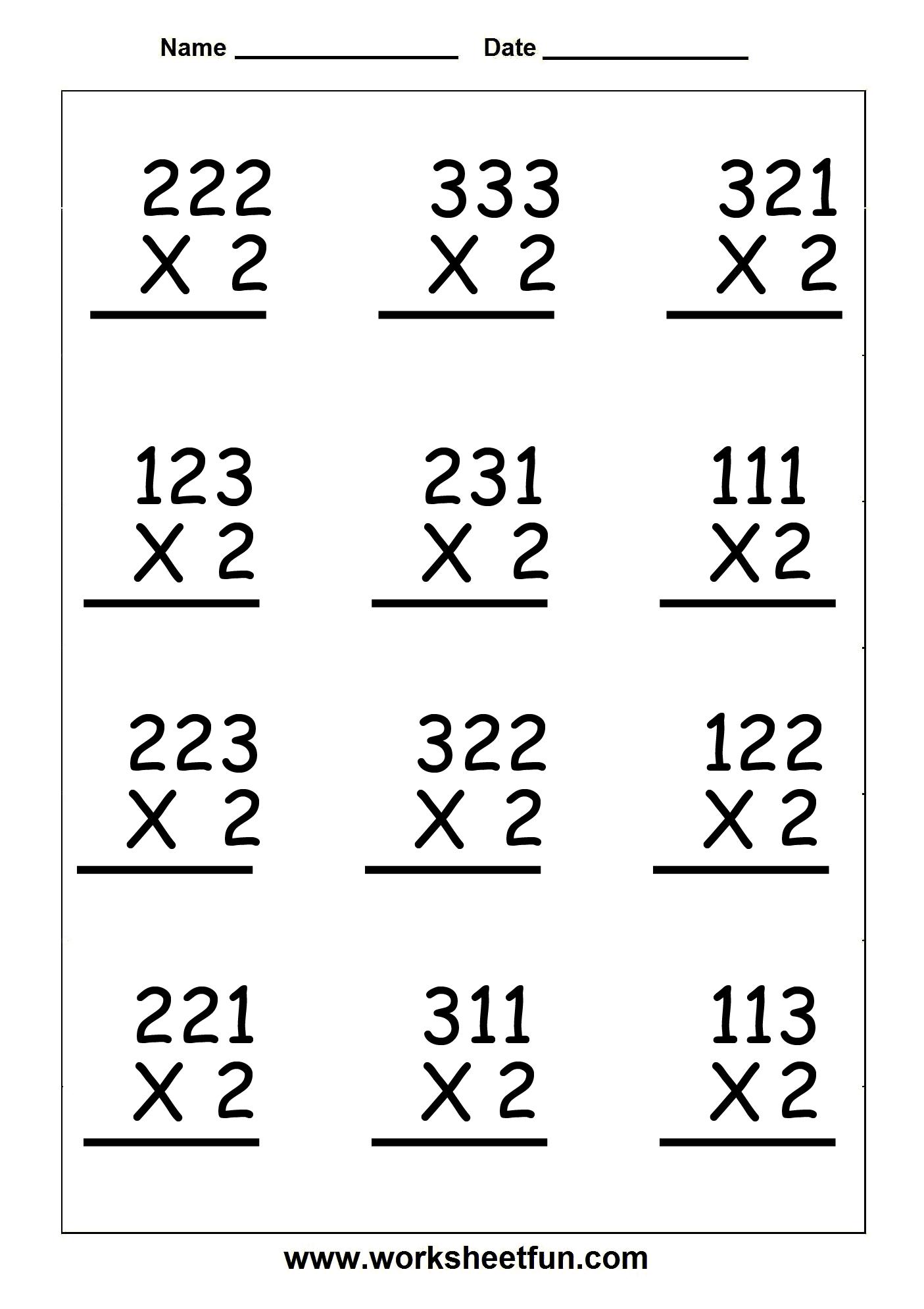 Copy Of Single Digit Multiplication Worksheets - Lessons throughout Printable 2 Digit Multiplication