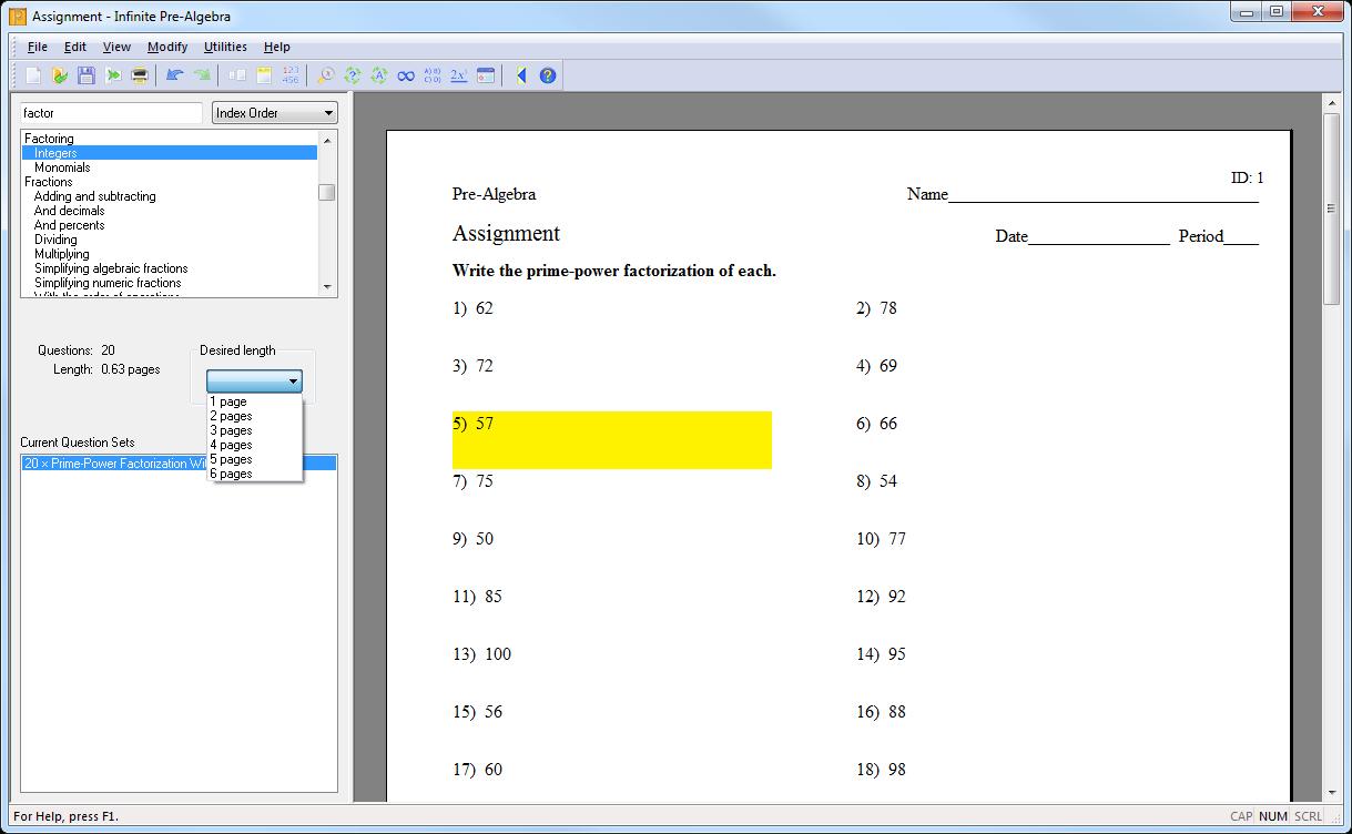 Creating An Assignment With Kuta Software regarding Multiplication Worksheets Kuta