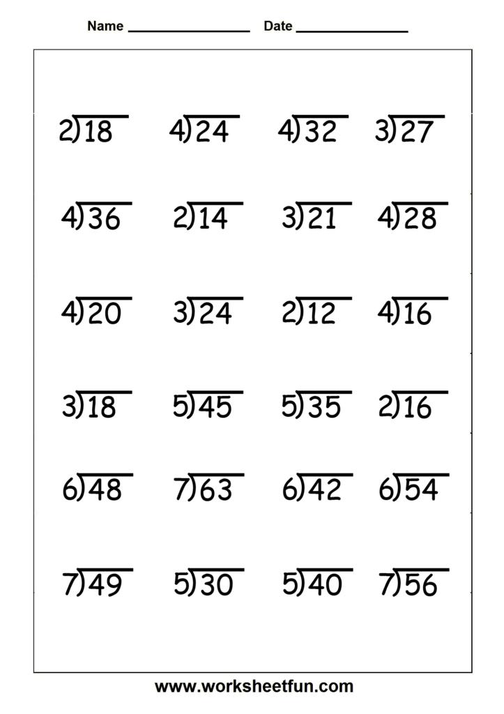 Division   4 Worksheets | Division Worksheets, Math Pertaining To Printable Multiplication And Division Worksheets Grade 4
