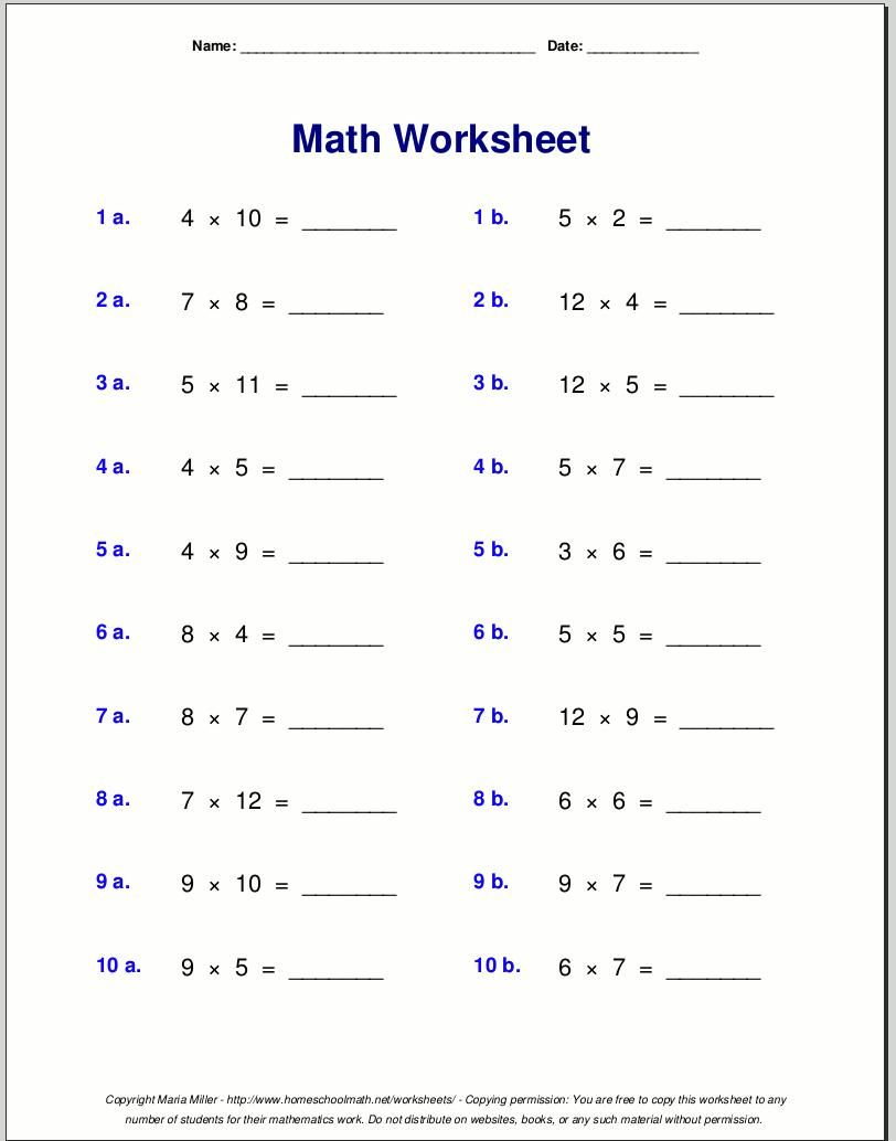 Easy Multiplication Worksheets With Pictures | Free Math regarding Multiplication Worksheets Easy