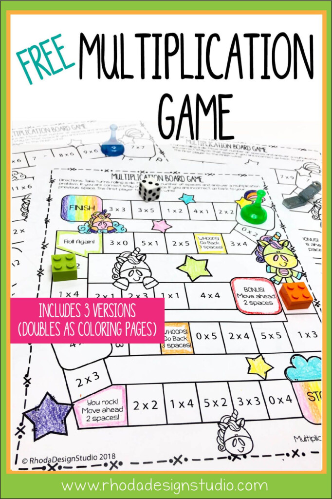Easy To Use Free Multiplication Game Printables | Rhoda For Printable Multiplication Games Free