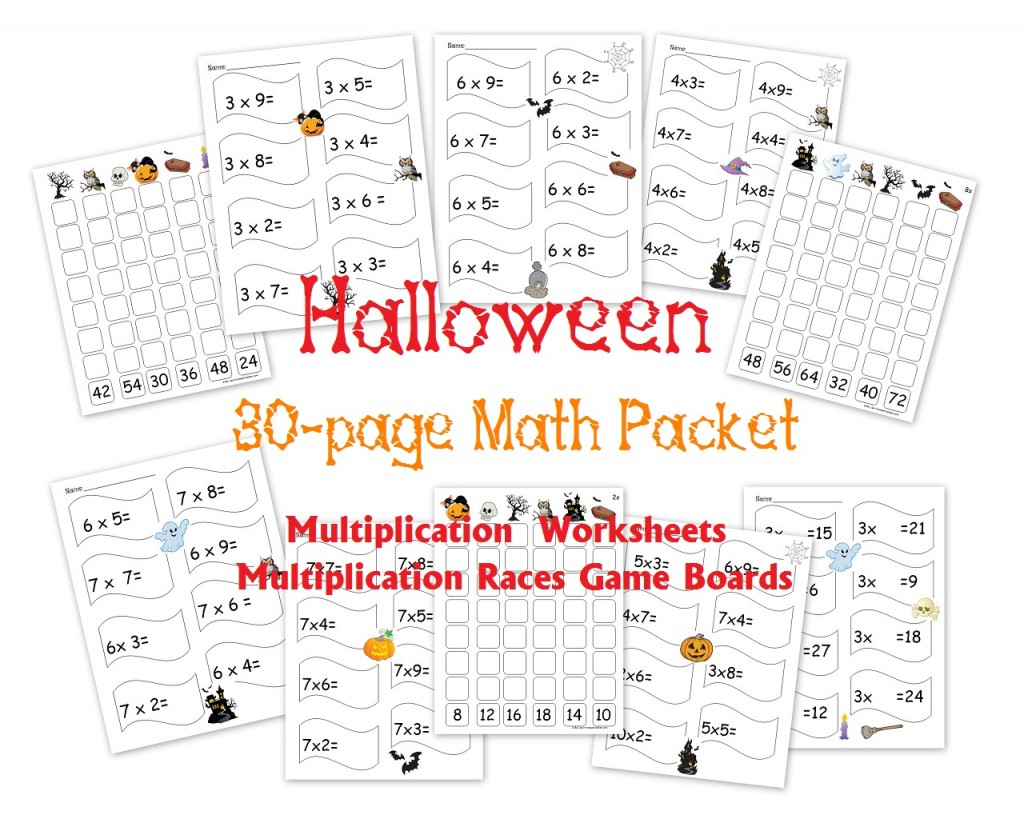 Free 30-Page Halloween Multiplication Packet: Math inside Printable Multiplication Packet