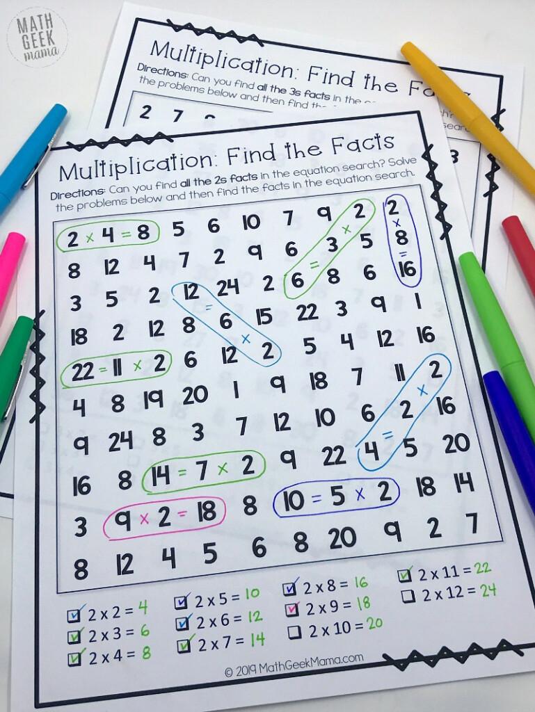 Free} Equation Search: Fun Multiplication Games For 3Rd Grade Regarding Printable Multiplication Games