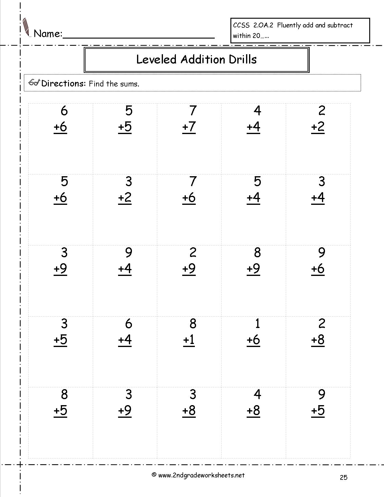 Free Math Worksheets And Printouts intended for Multiplication Worksheets Drills