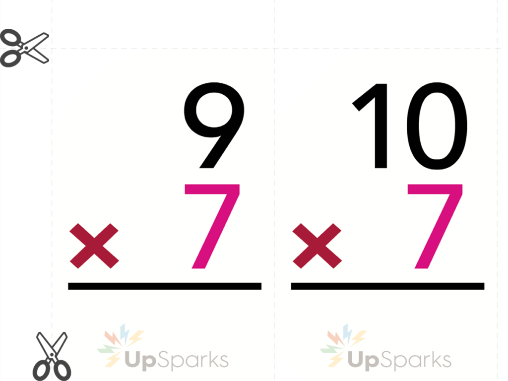 Free Multiplication Flash Cards Printable Sheets From Upsparks within Printable Multiplication Flash Cards 7