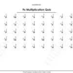 Free Printable 9X Multiplication Quiz Answers | Free In Multiplication Worksheets 9X