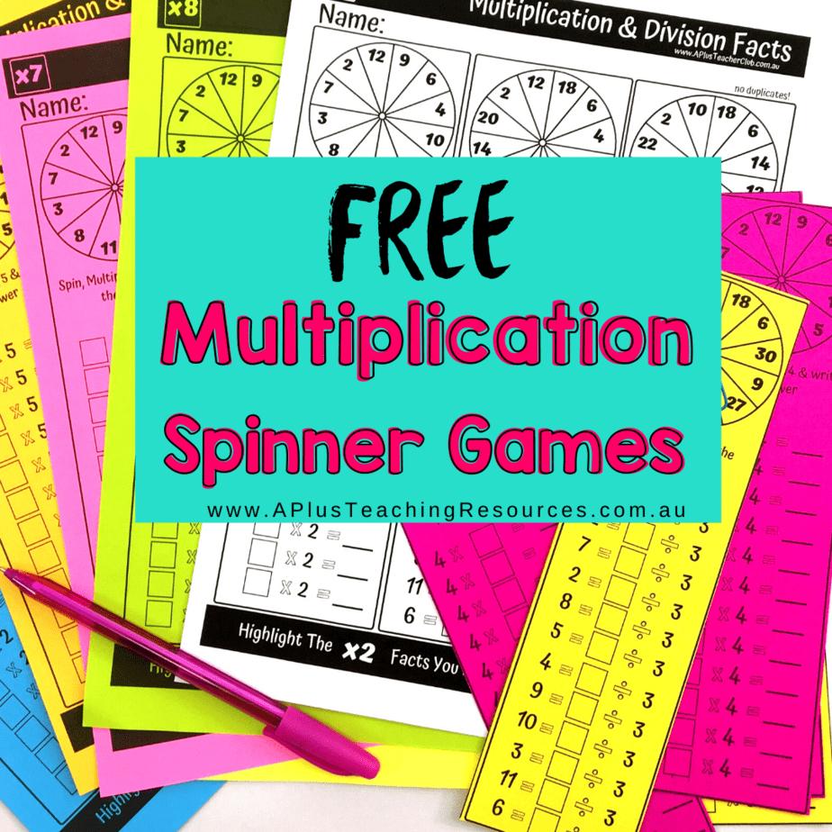 Free Printable Multiplication Games inside Printable Multiplication Strategy Mat