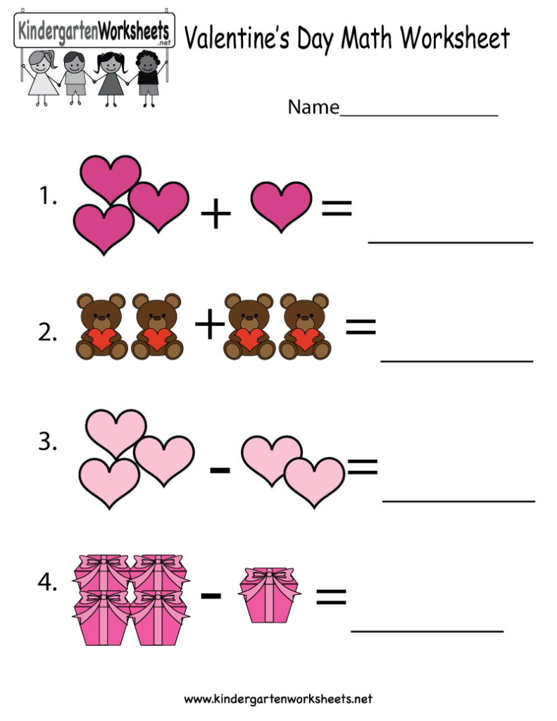 Free Printable Valentine's Day Math Coloring Pages Within Multiplication Worksheets Valentines