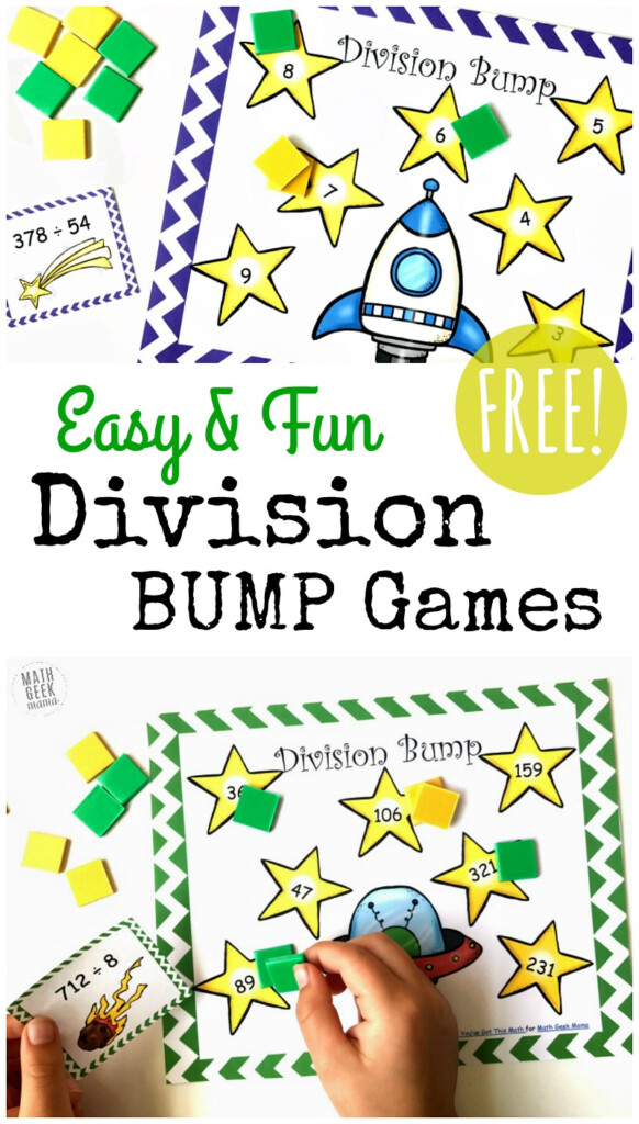 Free Simple Printable Division Games {1 2 Digit Divisors} In Printable Multiplication And Division Games