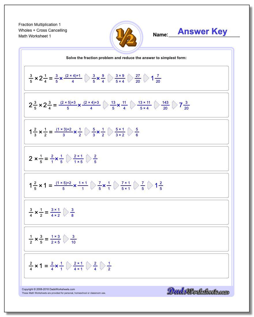Full Fraction Multiplication inside Homeschool Multiplication Worksheets
