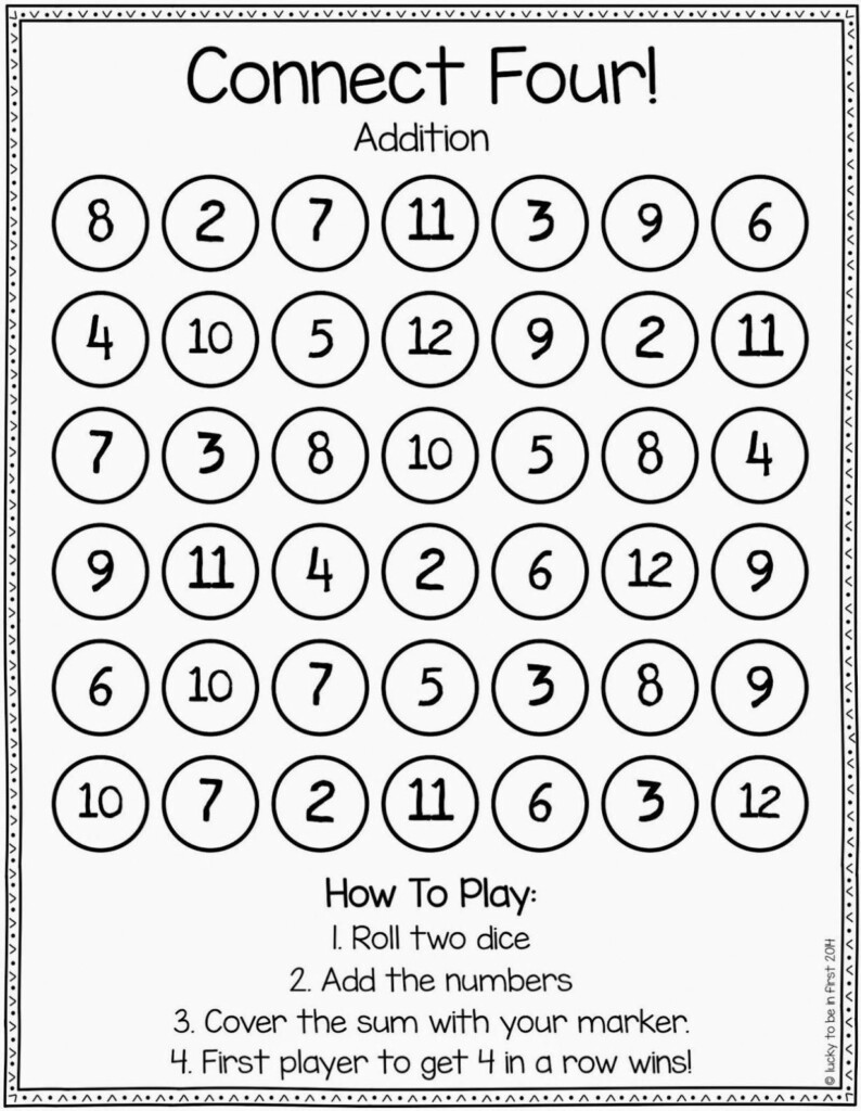 Games To Strengthen Math Skills | Second Grade Math, Build Throughout Connect 4 Multiplication Printable