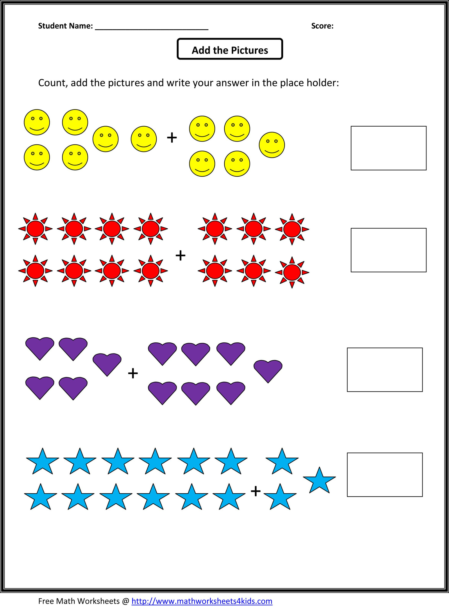 Grade 1 Addition Math Worksheets | First Grade Math with regard to Multiplication Worksheets Level 1