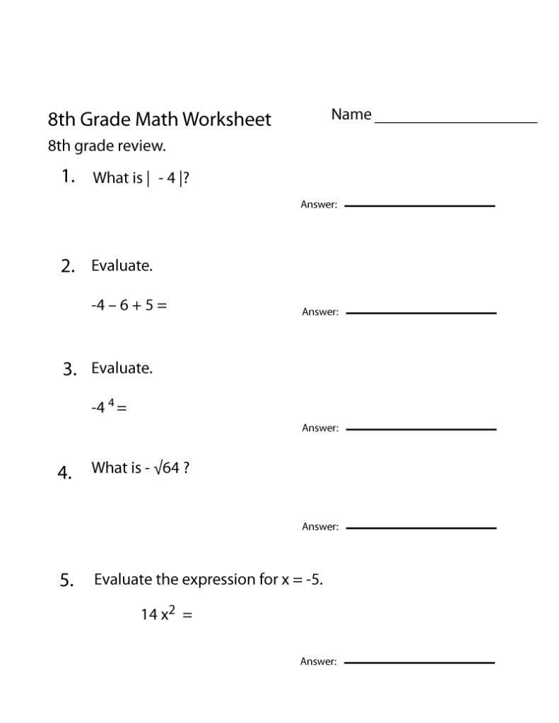 Grade 8 Math Worksheets | 8Th Grade Math Worksheets, 8Th With Regard To Multiplication Worksheets Printable Grade 8