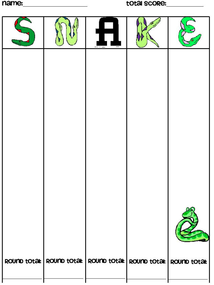 Printable Multiplication Dice Games