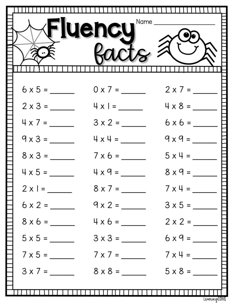 Halloween Math Multiplication Worksheets | Multiplication Within Printable Halloween Multiplication Worksheets