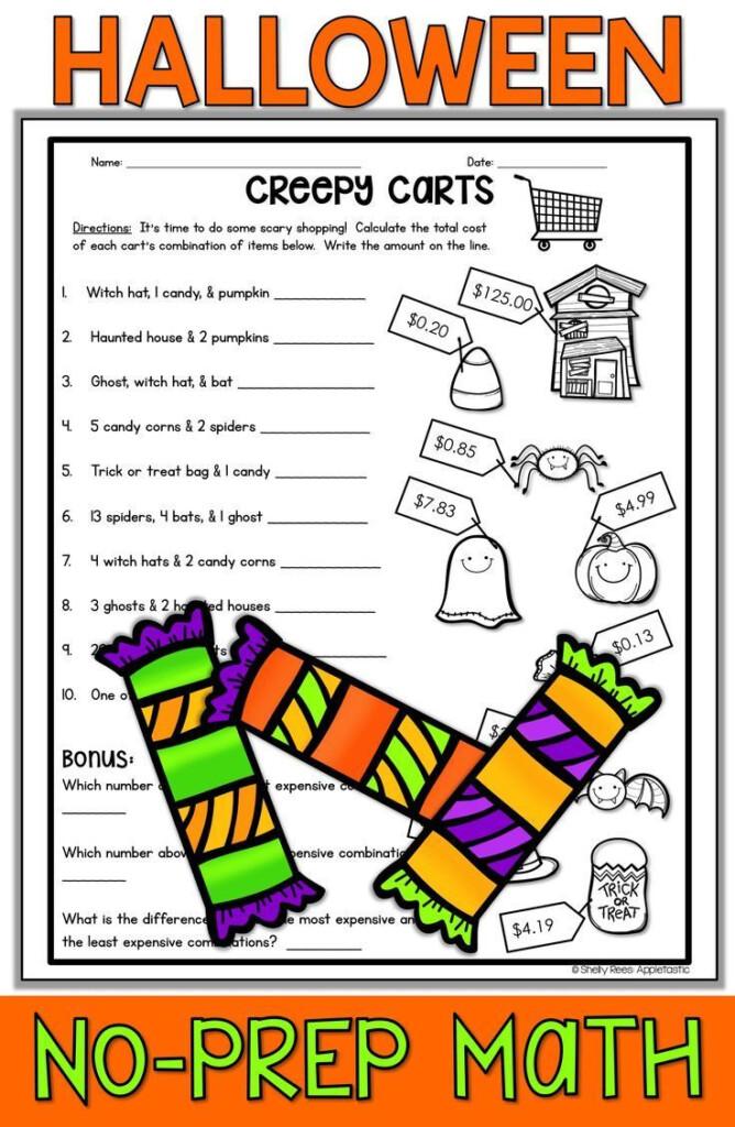 Halloween Math Worksheets | Halloween Math Worksheets For Printable Halloween Multiplication Worksheets