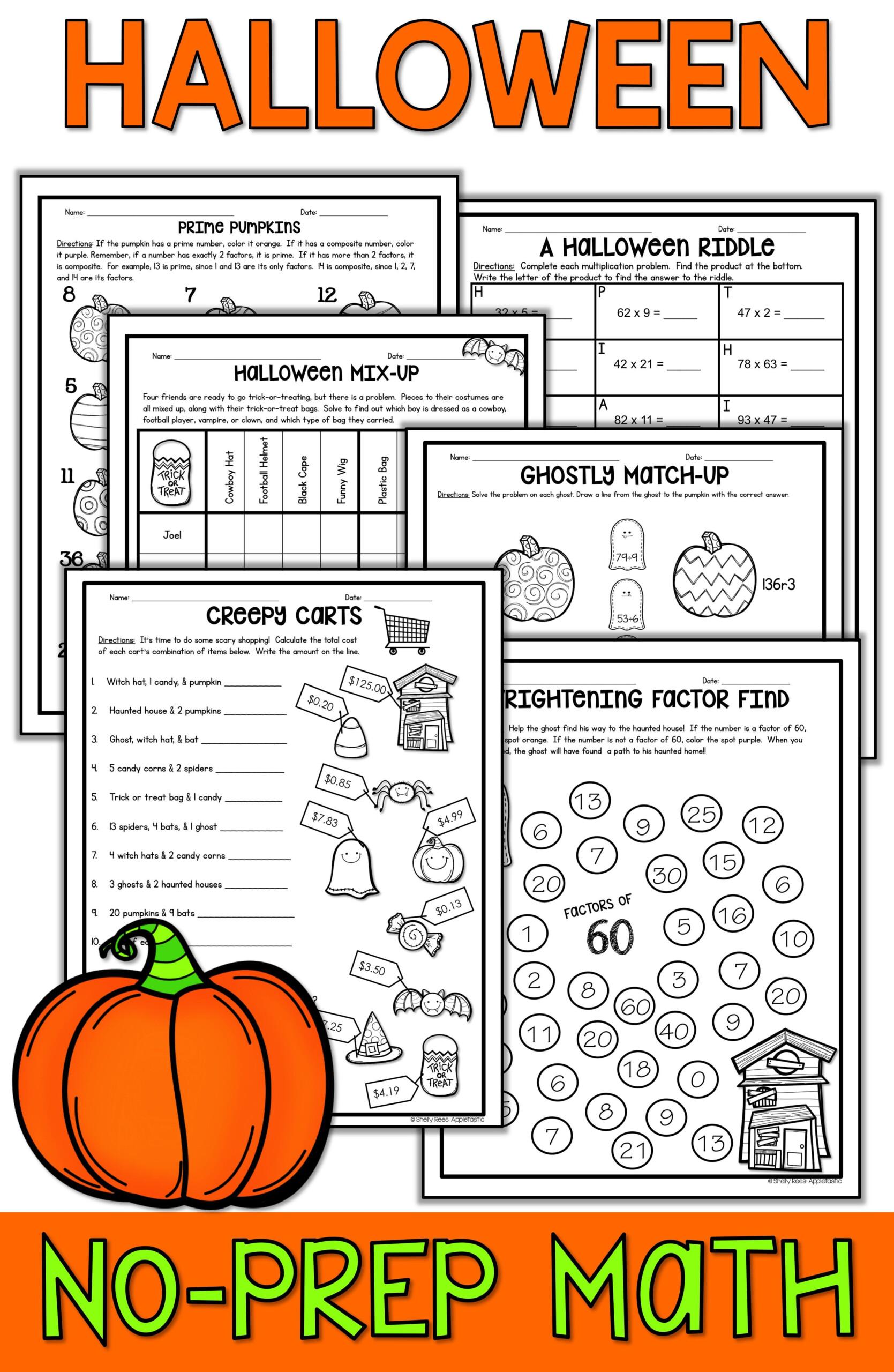 Halloween Math Worksheets | Halloween Math Worksheets intended for Printable Halloween Multiplication Worksheets
