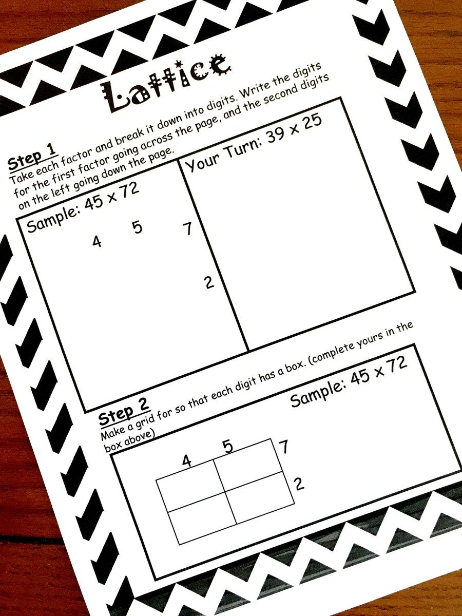 How To Teach Lattice Multiplication: Includes A Free Step intended for Printable Lattice Multiplication Grids