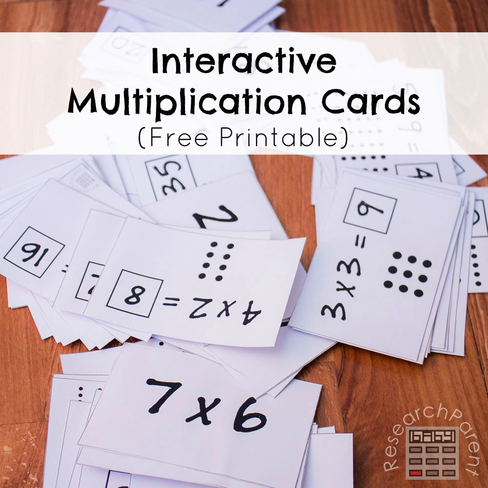 Interactive Multiplication Cards - Researchparent for Printable Multiplication Cards