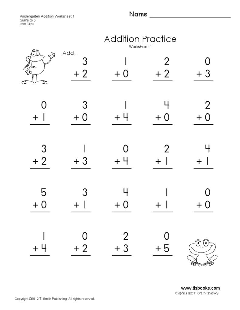 Kindergarten Addition Worksheets 1 And 2 | Addition Regarding Printable 2's Multiplication Quiz