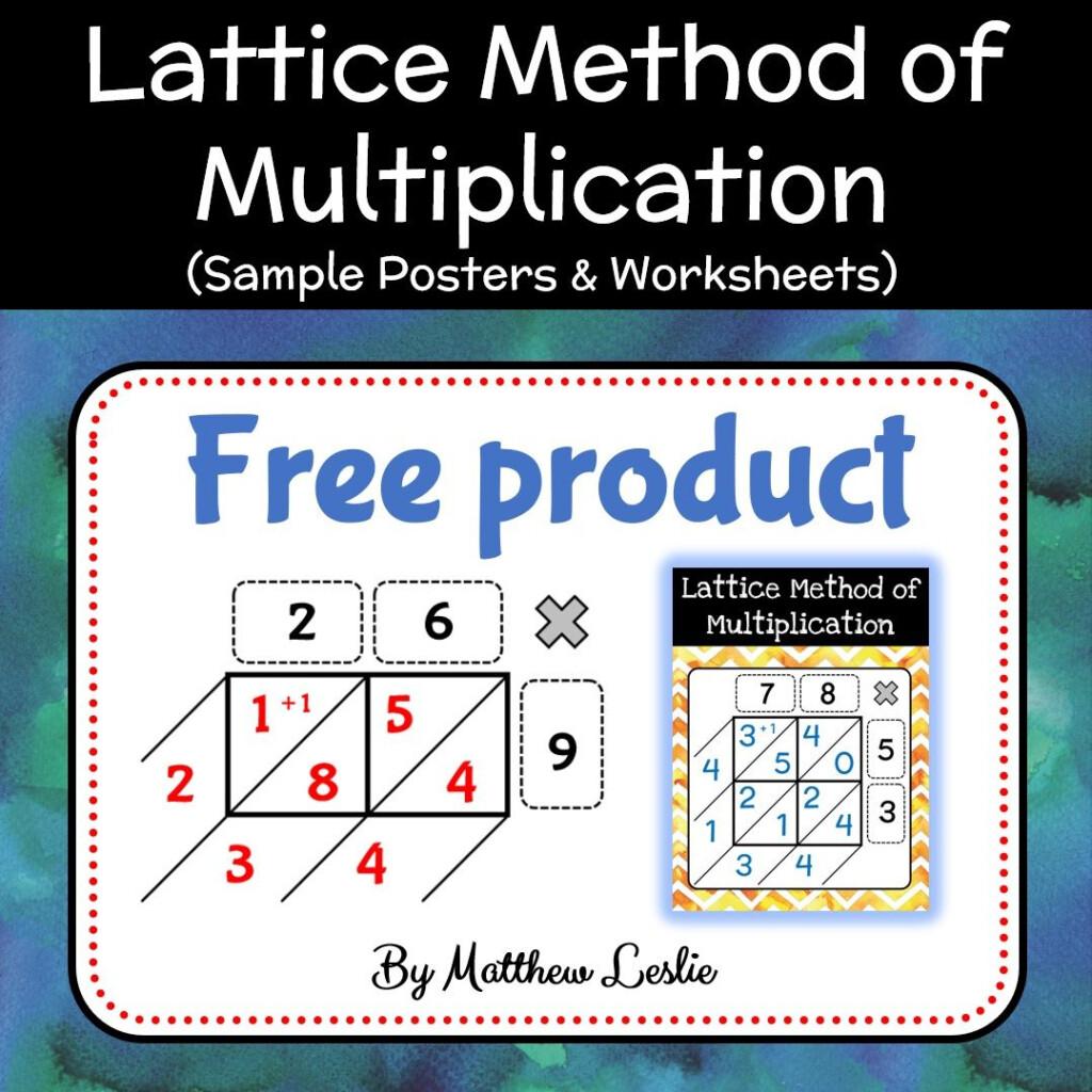 Lattice Method Of Multiplication (Sample Posters Regarding Multiplication Worksheets Lattice Method