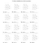 Lattice Multiplication    Two Digittwo Digit (A In Printable Lattice Multiplication Worksheets