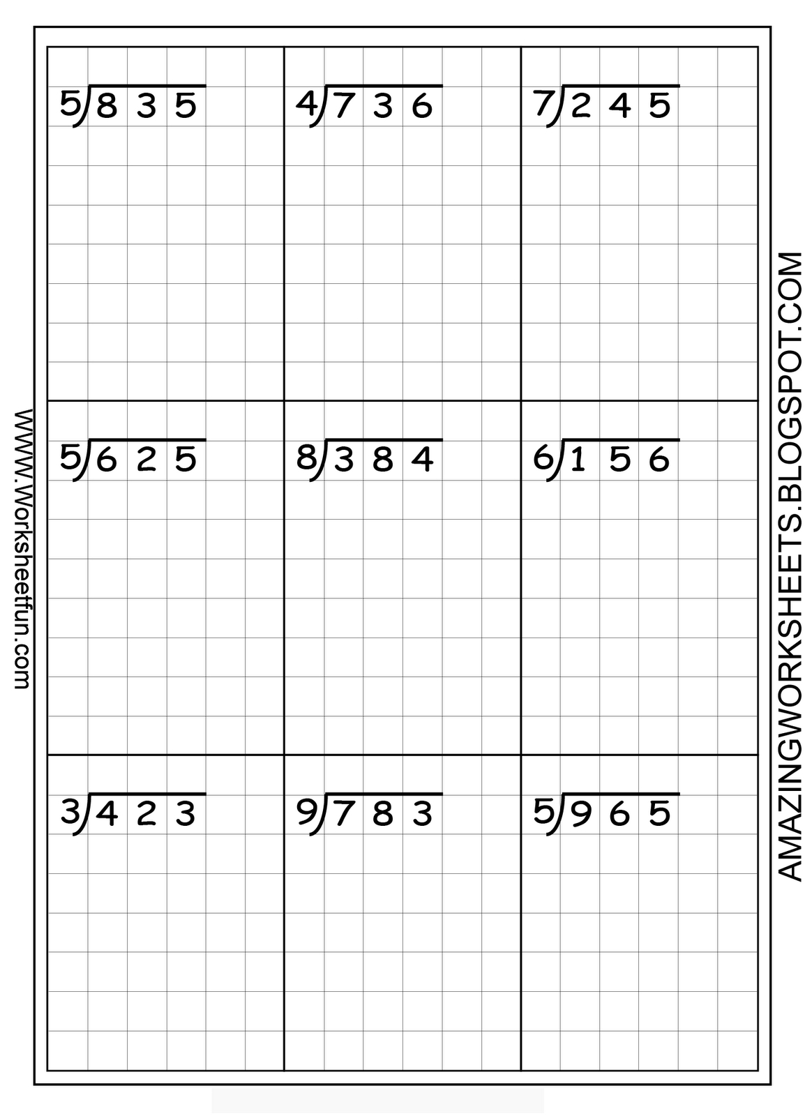 Long Division Worksheets  Free Using Graph Paper Keeps intended for Multiplication Worksheets On Graph Paper