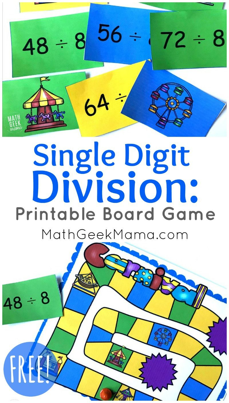 Looking For A Quick And Easy Way To Practice Division Facts with Printable Multiplication And Division Games