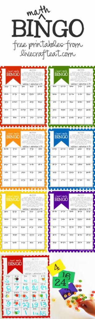 Math Bingo Printable For Kids   Free | Math Bingo, Math For In Printable Multiplication Bingo