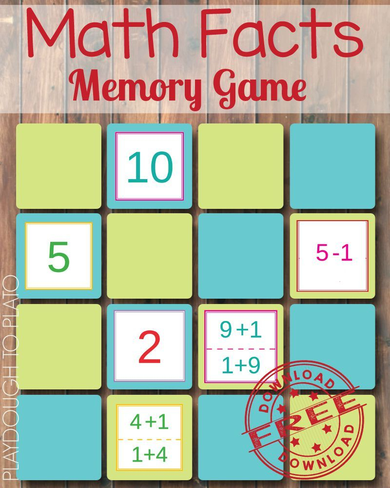 Math Fact Memory Game | Math Facts, Math Fact Fluency, Fun Math pertaining to Printable Multiplication Memory Game