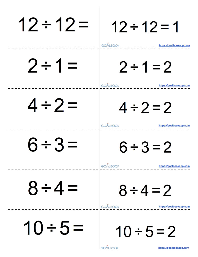 Math Flashcards Worksheet | Printable Worksheets And Regarding Printable Multiplication And Division Flash Cards