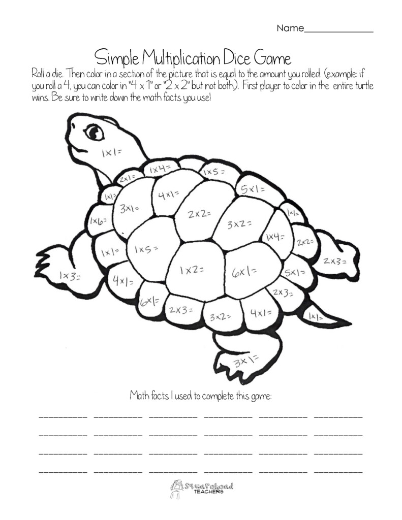 Math Games | Squarehead Teachers | Page 2 With Regard To Printable Multiplication Dice Games