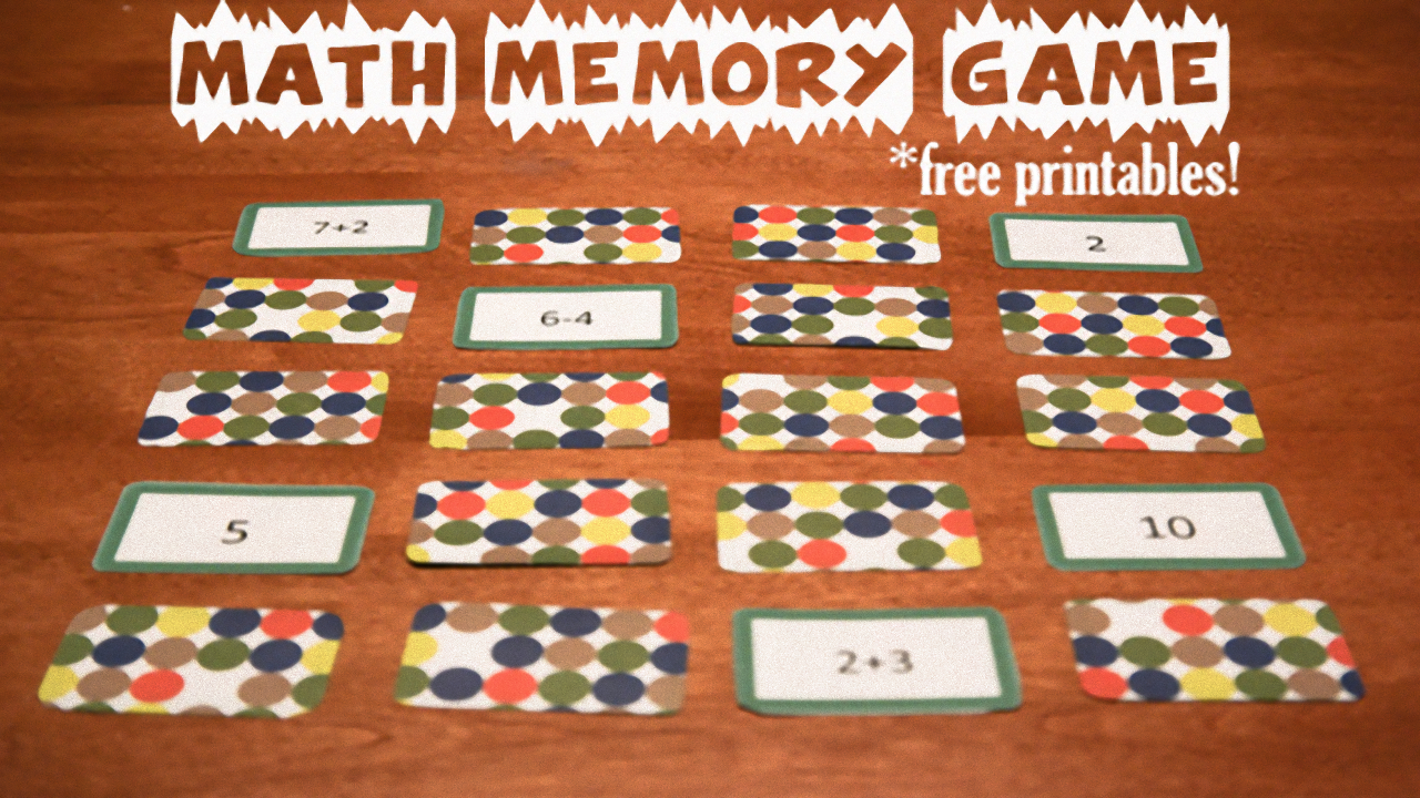 Math Memory Games, Free Printables with Printable Multiplication Memory Game