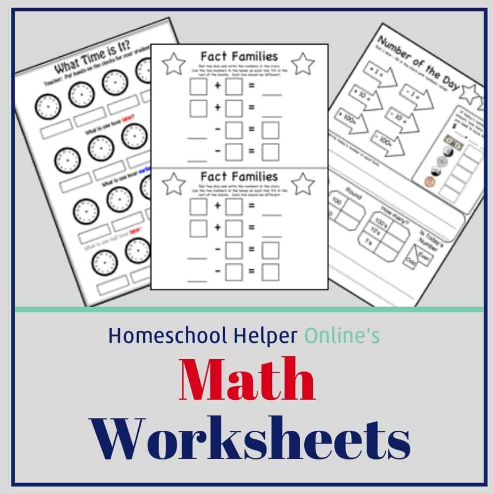 Math Worksheets - Homeschool Helper Online pertaining to Multiplication Worksheets Homeschool