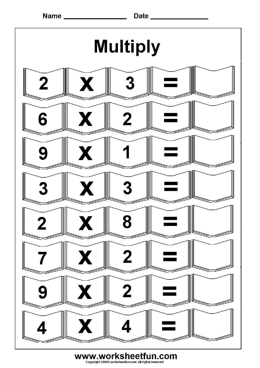 Multiplication – 5 Worksheets / Free Printable Worksheets for Multiplication Worksheets Numbers 1-5