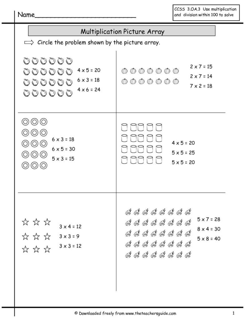 Multiplication Array Worksheets   Array Worksheets Throughout Worksheets Multiplication Using Arrays