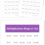 Multiplication Bingo (1 5X) | Free Printable Bingo Cards Intended For Printable Multiplication Bingo
