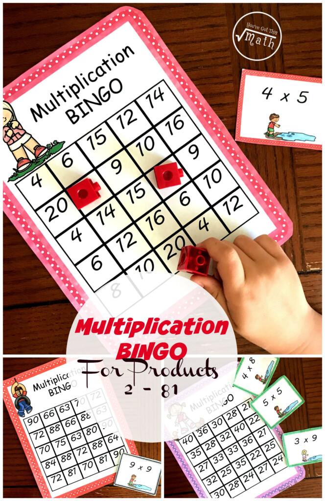 Multiplication Bingo   A Fun Game To Practice Multiplication Intended For Printable Multiplication Bingo Game