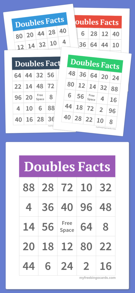Multiplication Bingo To Practice 2S, 4S, And 8S Facts. Does Throughout Printable Multiplication Bingo