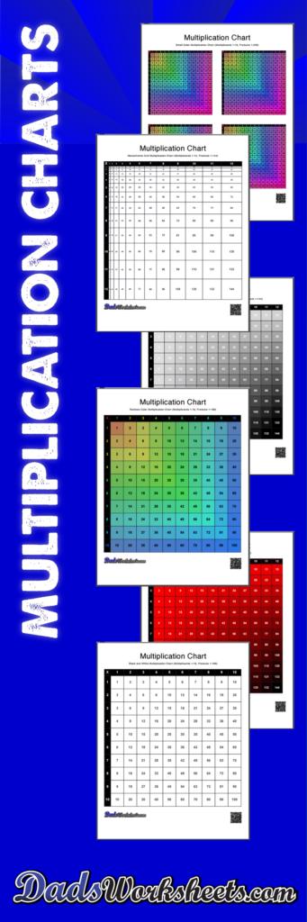 Multiplication Charts: 59 High Resolution Printable Pdfs, 1 Inside Printable Multiplication Chart 30X30