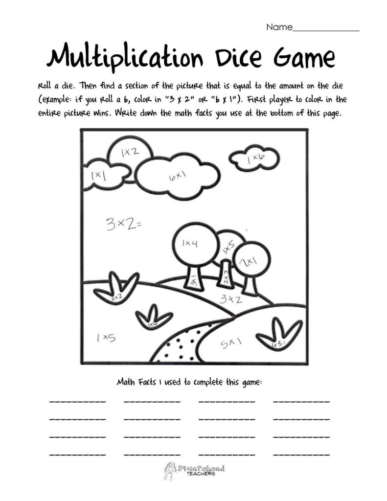 Multiplication Dice Game: Landscape | Multiplication Dice Pertaining To Printable Multiplication Dice Games