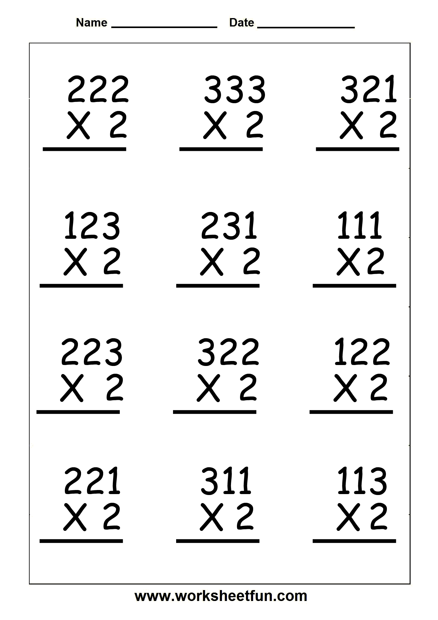 Multiplication - Lessons - Tes Teach within Multiplication Worksheets No Regrouping