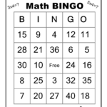 Multiplication Math Bingo Game | Math Bingo, Math, Fun Math In Printable Multiplication Bingo