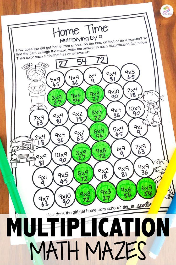 Multiplication Math Mazes: Multiplication Worksheets For inside Multiplication Worksheets Up To 12X12