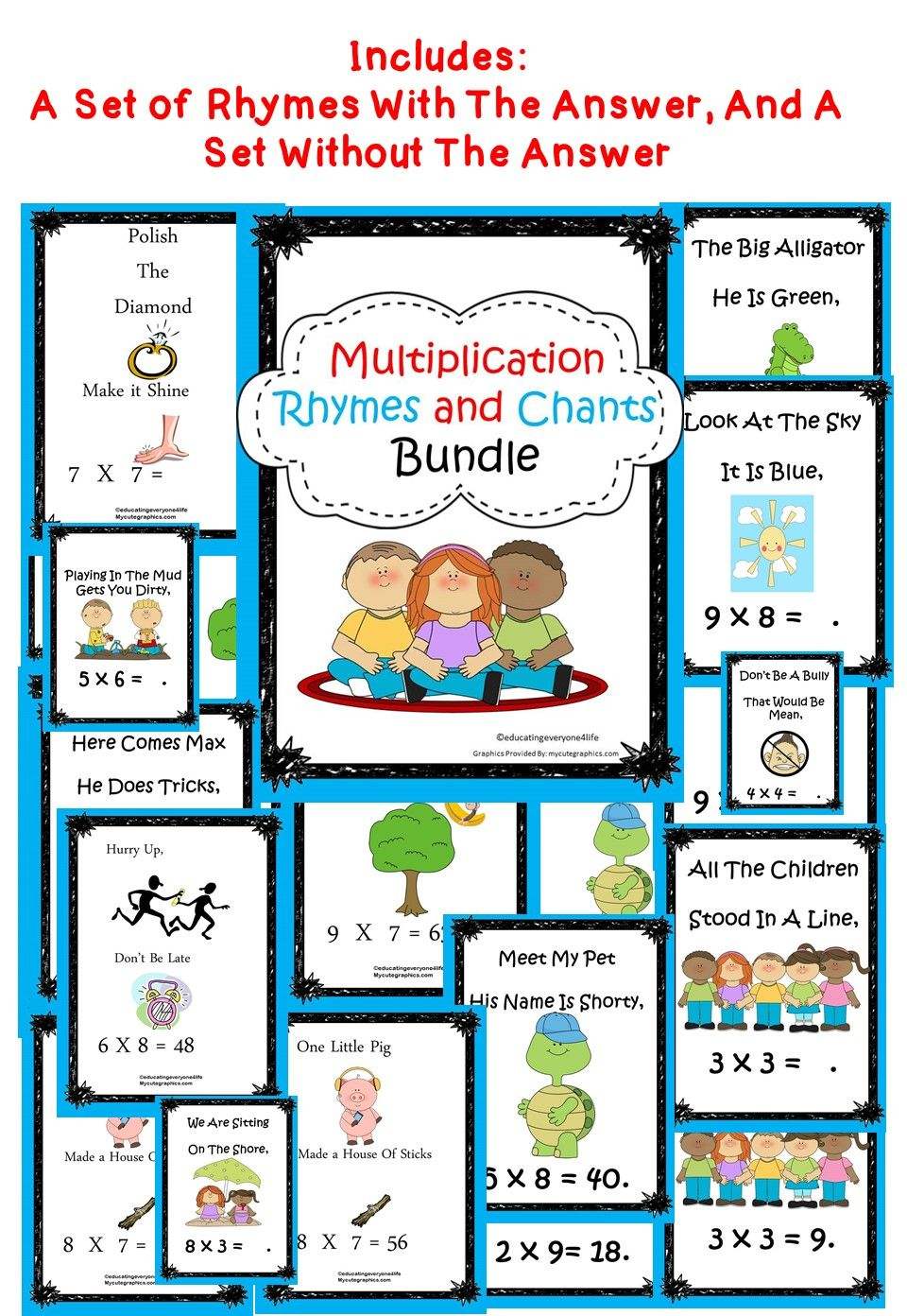 Multiplication Rhymes And Chants | Homeschool Math, How To within Printable Multiplication Rhymes