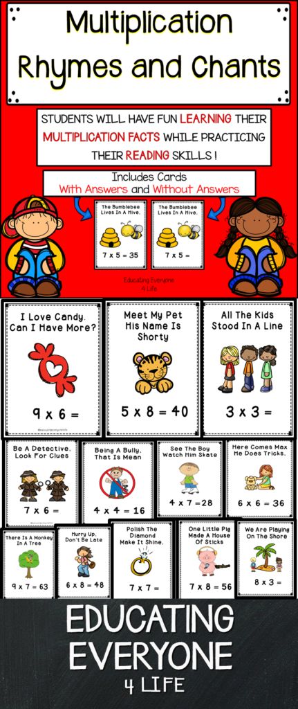 Multiplication Rhymes And Chants | Multiplication Facts With Regard To Printable Multiplication Rhymes