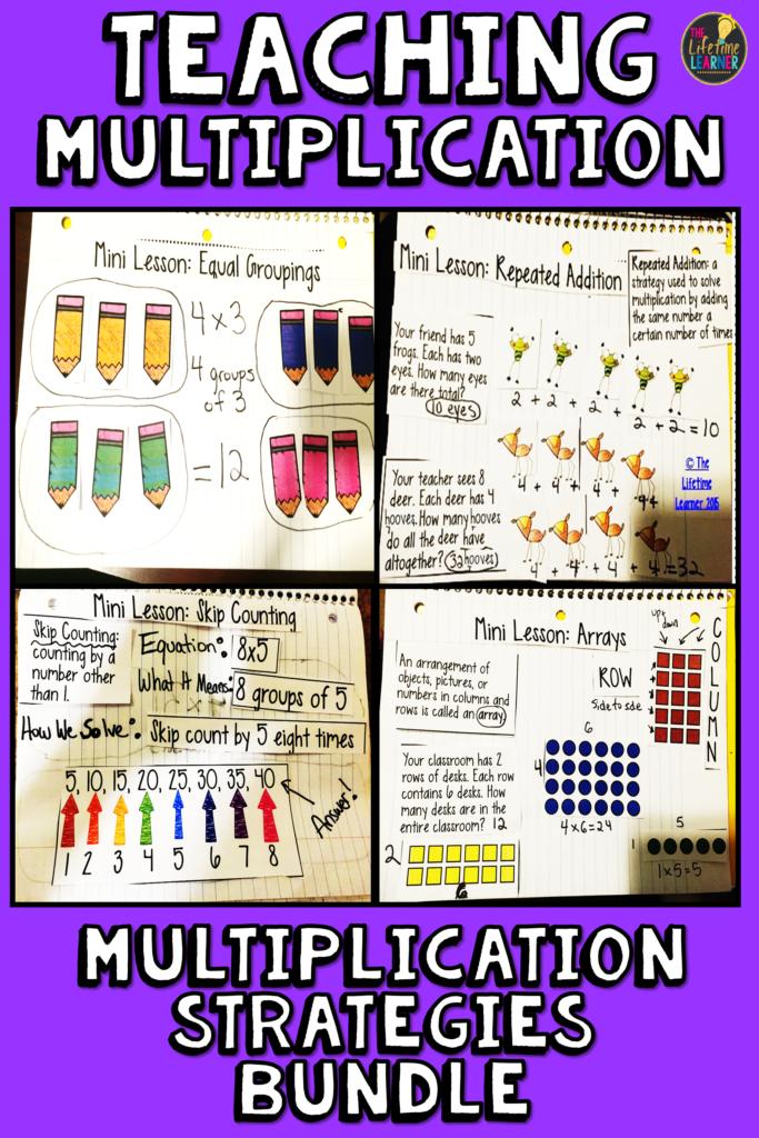 Multiplication Strategies Bundle!   Multiplication Within Printable Multiplication Strategies